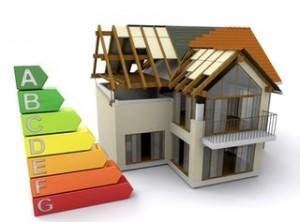Wizualizacja domu oraz efektywności energetycznej.