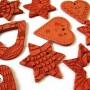 Ceramiczne ozodby świąteczne na choinkę