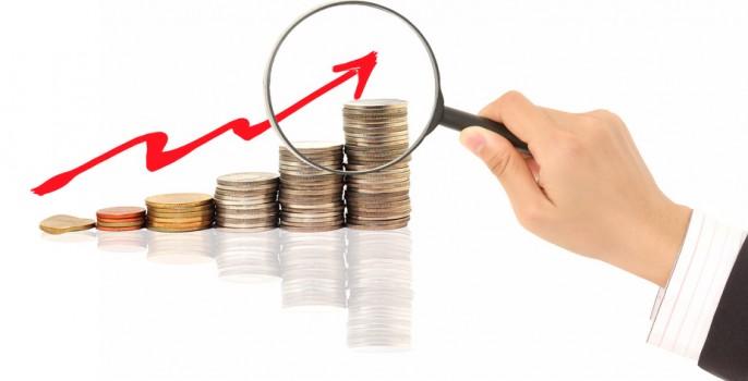 Coraz wyższe ceny - kupki z monet