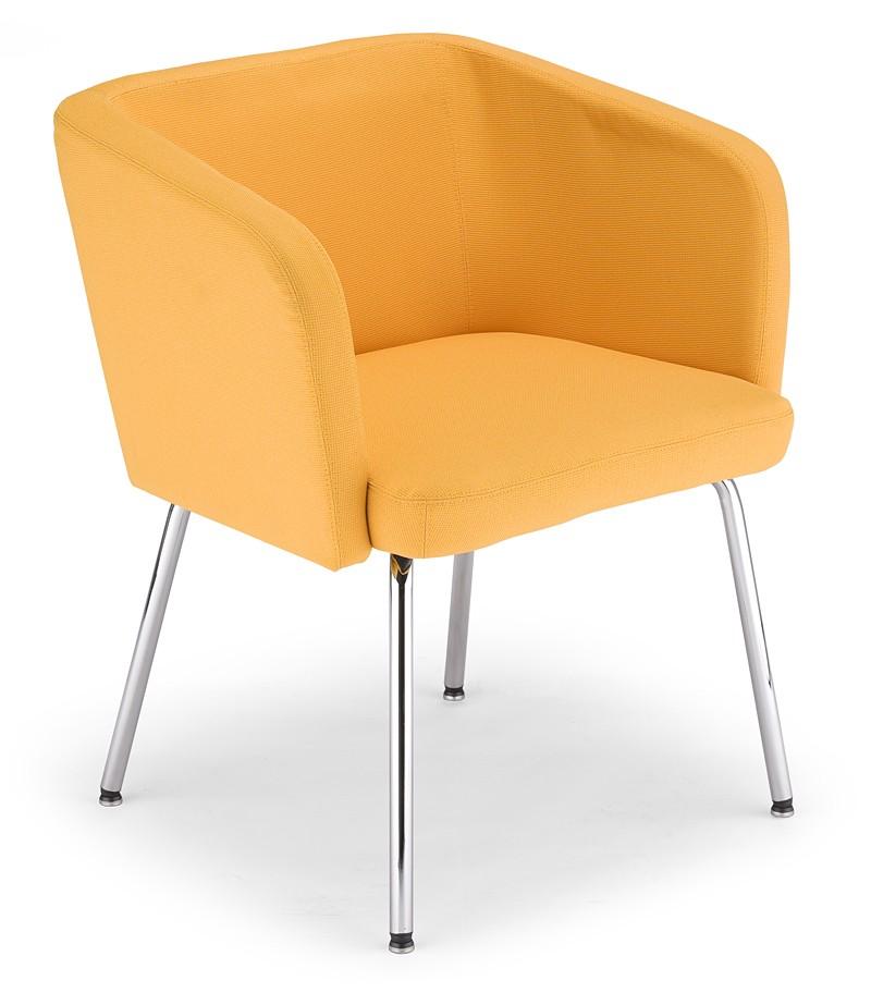 Fotel klubowy na nóżkach nawiązujacy do stylu nowoczesnego.